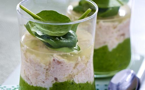 salmon spinach terrine Кейтеринг на свадьбу