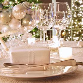 christmas table decor Новогодний банкет